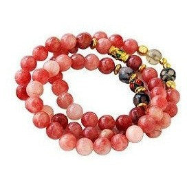 "Pink Stones Stretch Bracelet 21 3/4"" - Beads and Dangles"