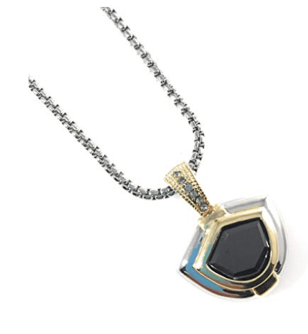 Fashion Statement Pendant Choker Necklace Jet CZ and Black Diamond Crystal - Beads and Dangles