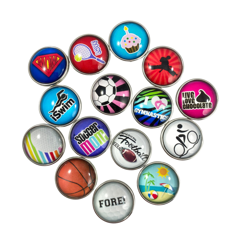 Snap Charm Set of 15 Glass Cover Standard Size