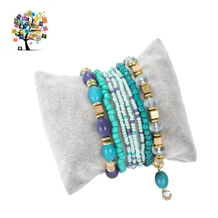 Boho Multi-layer Bracelet Set of 8