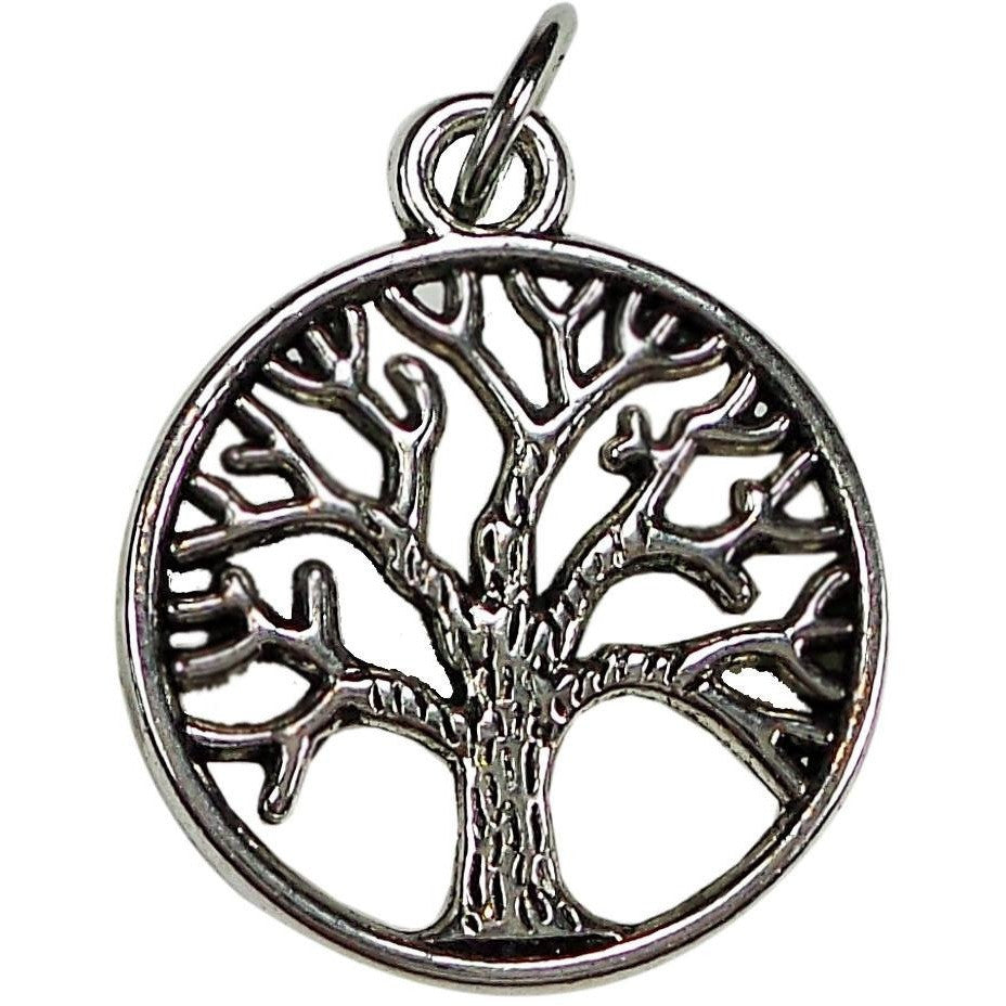 Tree Charm Silver Plate to add to Expandable Bangle Bracelet - Beads and Dangles