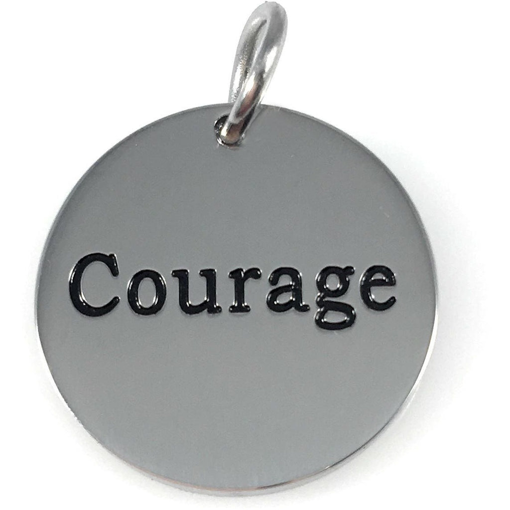 "Stainless Steel Word Charm 3/4"" - Beads and Dangles"