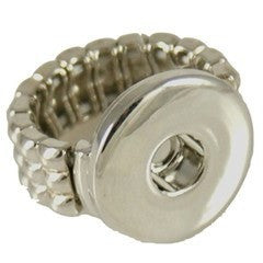 "Chunk Snap Charm Stretch Ring for 20mm snaps, 3/4"" Diameter - Beads and Dangles"