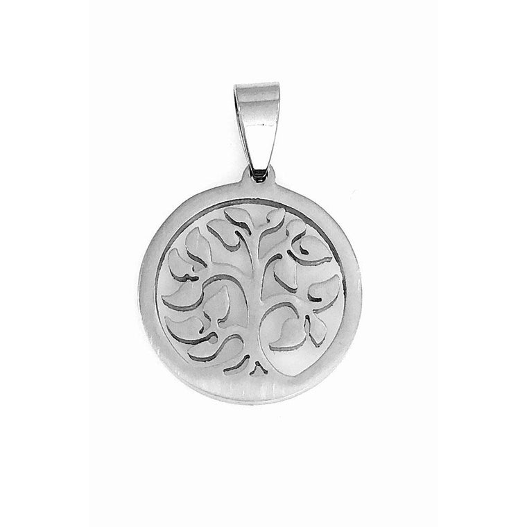 "Stainless Steel Charm Tree of Life 7/8"" Diameter - Beads and Dangles"