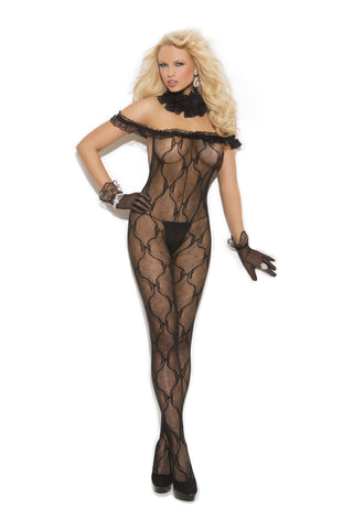 Bow Tie Lace Bodystocking - Queen Size