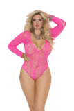 Deep V Stretch Teddy - Queen Size