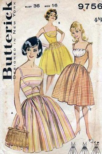 vintage butterick sewing patterns VintageStitching.com