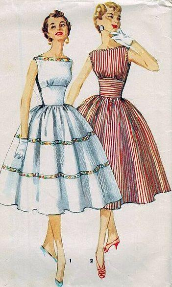 dress vintage sewing pattern vintagestitching.com