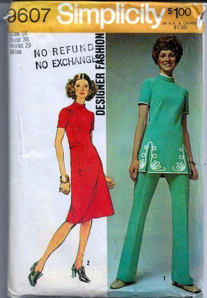 vintage sewing pattern ladies 1970s vintagestitching.com