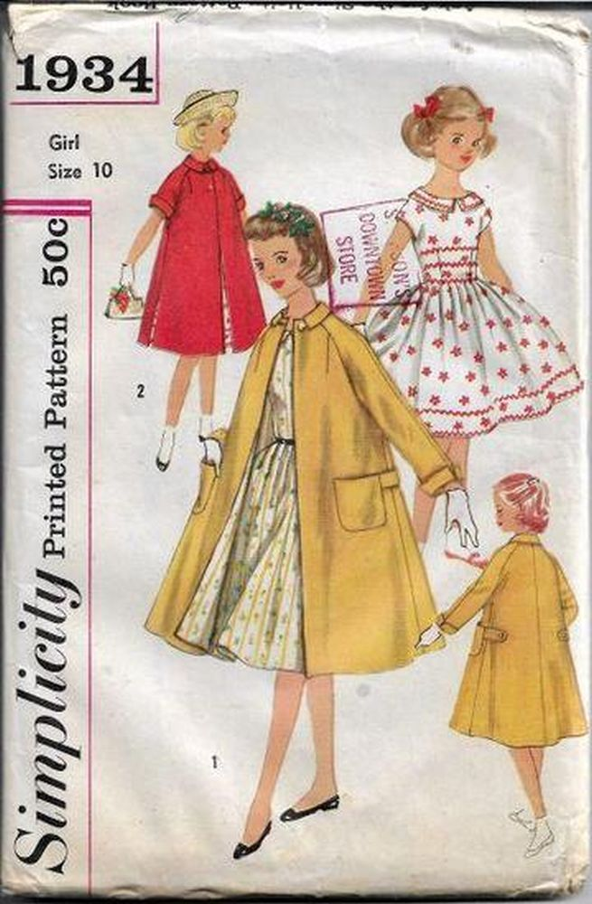 1950s Girls Vintage Patterns