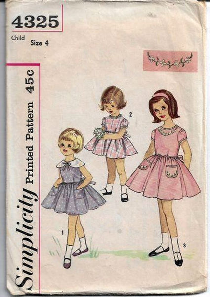 vintage sewing patterns girls 1960s vintagestitching.com