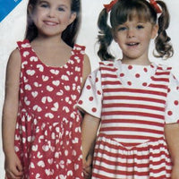 Butterick 3891 / 818 Girls Jumper Mini Dress Top Vintage 1980's Sewing Pattern - VintageStitching - Vintage Sewing Patterns