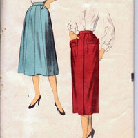 Advance 5912 Ladies Full Flared Wiggle Skirt with Pockets Vintage Sewing Pattern 50's - VintageStitching - Vintage Sewing Patterns