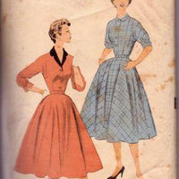 Advance 6798 Ladies Casual Shirtwaist Day Dress Flared Swing Skirt Vintage 1950's Sewing Pattern - VintageStitching - Vintage Sewing Patterns