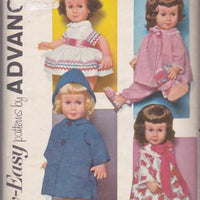 Advance Chatty Cathy Baby Doll Dress Coat Hat Robe Pajamas Vintage 1960's Sewing Pattern - VintageStitching - Vintage Sewing Patterns