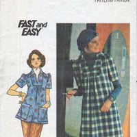 Butterick 4352 Misses Loose Fitting A-Line Dress and Top Vintage 1970's Sewing Pattern - VintageStitching - Vintage Sewing Patterns