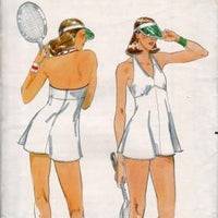 Butterick 5424 Vintage 1970's Sewing Pattern Ladies Tennis Shortie Dress Shorts - VintageStitching - Vintage Sewing Patterns
