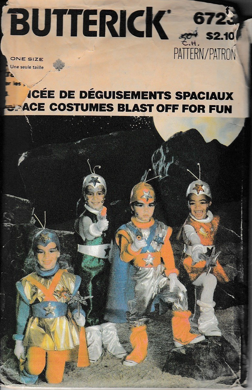 Butterick 6723 Childrens Space Man Halloween Costume Vintage Sewing Pattern - VintageStitching - Vintage Sewing Patterns