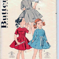 Butterick 8722 Girls Toddler Shortie Princess Dress Vintage 1950's Sewing Pattern - VintageStitching - Vintage Sewing Patterns