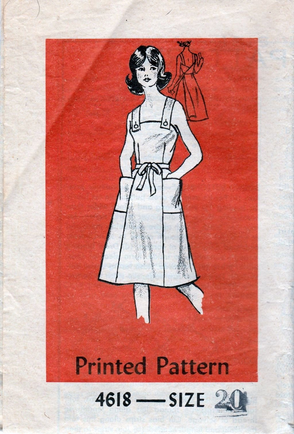 Mail Order 4618 Anne Adams Vintage 1970's Sewing Pattern Ladies Back Wrap Dress - VintageStitching - Vintage Sewing Patterns