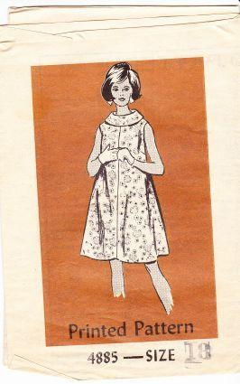 Mail Order 4885 Vintage Sewing Pattern Ladies Sleeveless Dress 1960's - VintageStitching - Vintage Sewing Patterns