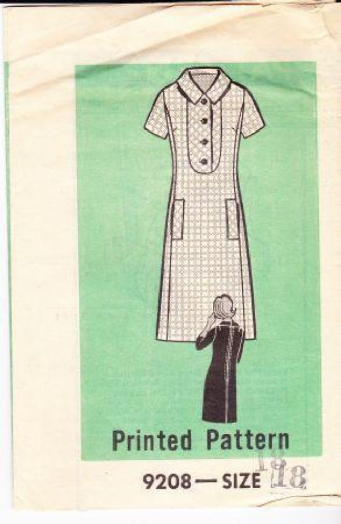 Mail Order 9208 Vintage Sewing Pattern Ladies Dress 1960's - VintageStitching - Vintage Sewing Patterns