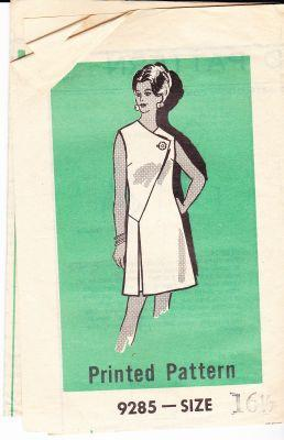 Mail Order 9285 Vintage Sewing Pattern Ladies Dress 1960's - VintageStitching - Vintage Sewing Patterns