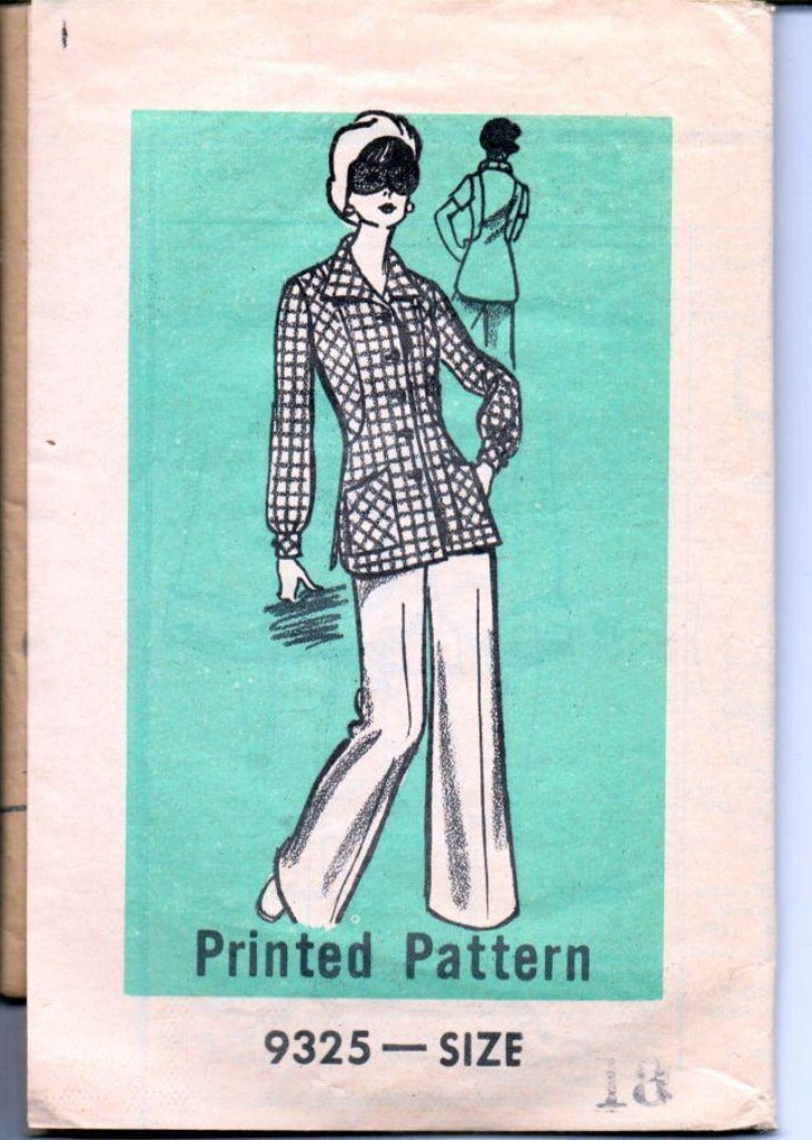 Mail Order 9325 Vintage 1970's Sewing Pattern Ladies Pants Long Short Sleeve Top - VintageStitching - Vintage Sewing Patterns