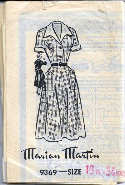 Marian Martin Mail Order 9369 Shirtwaist Dress Vintage Sewing Pattern 1950s - VintageStitching - Vintage Sewing Patterns