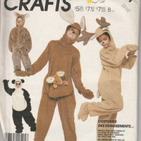 McCall's 3351 Childrens Halloween Costume Sewing Pattern Vintage 80's Panda Kangaroo Reindeer Koala - VintageStitching - Vintage Sewing Patterns
