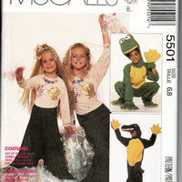 McCall's 5501 Childrens Halloween Costume Sewing Pattern Boys Girls Alligator Frog Mermaid - VintageStitching - Vintage Sewing Patterns