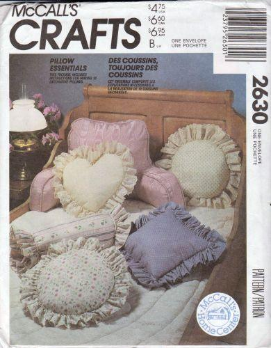 McCall's Crafts 2630 Decorative Pillow Sewing Pattern - VintageStitching - Vintage Sewing Patterns