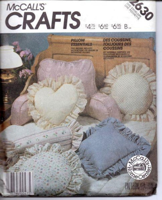 McCall's Crafts 2630 Decorative Pillows Sewing Craft Pattern - VintageStitching - Vintage Sewing Patterns