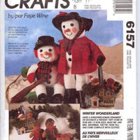 McCall's Crafts 6157 Christmas Snowman Gingerbread Man Sewing Pattern - VintageStitching - Vintage Sewing Patterns