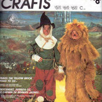 McCall's P916 Childrens Lion Scarecrow Wizard Of Oz Halloween Costume Vintage Pattern - VintageStitching - Vintage Sewing Patterns
