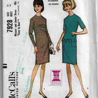 McCalls 7928 Ladies Dress Vintage Sewing Pattern 1960s - VintageStitching - Vintage Sewing Patterns