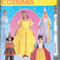 McCalls 8896 Ladies Halloween Costume Pattern Disney Rupunzel Cinderella Snow White  Belle - VintageStitching - Vintage Sewing Patterns