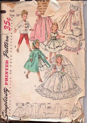 Simplicity 1808 Doll Clothing Revlon Cissy Vintage 1960's Sewing Pattern - VintageStitching - Vintage Sewing Patterns