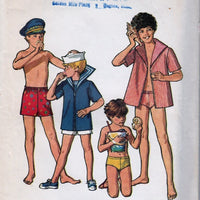 Simplicity 5045 Vintage 1970's Sewing Pattern Boys Swimwear Shirt Bathing Suit - VintageStitching - Vintage Sewing Patterns