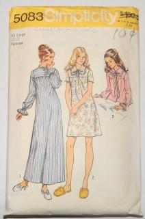 Simplicity 5083 Vintage Pattern Ladies Nightgown Bedjacket - VintageStitching - Vintage Sewing Patterns