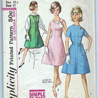 Simplicity 5157 Sub Teen One Piece Jumper Dress Vintage 1960's Sewing Pattern Mad Men - VintageStitching - Vintage Sewing Patterns