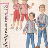 Simplicity 5164 Vintage Pattern Boys Girls Shirt and Pants 1960's - VintageStitching - Vintage Sewing Patterns