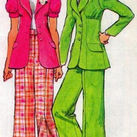 Simplicity 5642 Petite Unlined Jacket Pants Vintage Pattern - VintageStitching - Vintage Sewing Patterns