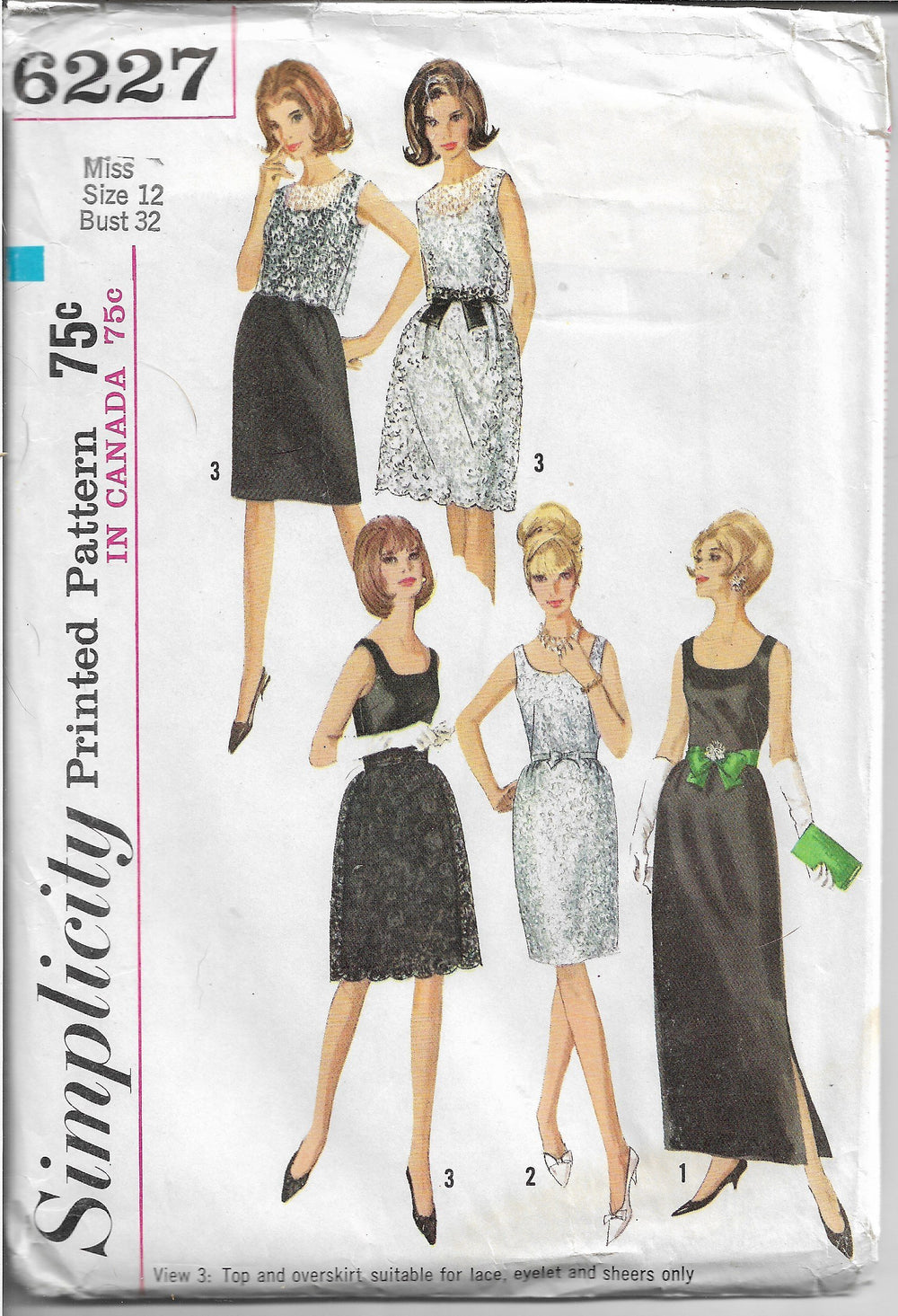 Simplicity 6227 Ladies Dress Sleeveless Ankle Length Vintage 1960s Sewing Pattern - VintageStitching - Vintage Sewing Patterns