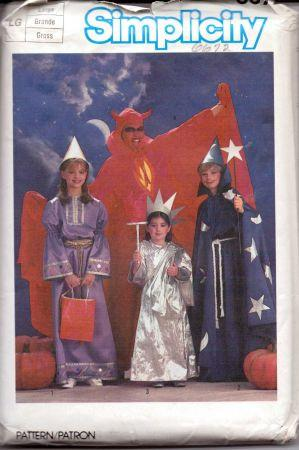 Simplicity 6672 Adult Devil Wizard Statue Liberty Halloween Costume Pattern - VintageStitching - Vintage Sewing Patterns