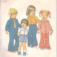 Simplicity 6779 Toddlers Bell Bottom Pants Shorts Vintage Pattern - VintageStitching - Vintage Sewing Patterns
