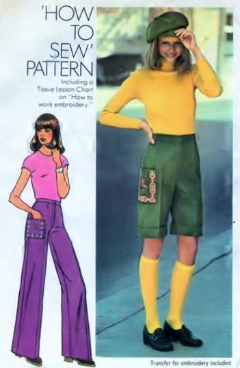 Simplicity 7119 Young Junior Teen Pants Cap Vintage Sewing Pattern - VintageStitching - Vintage Sewing Patterns