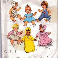Simplicity 7208 Doll Clothes Pattern Baby Tenderlove Vintage 1970's Sewing Pattern - VintageStitching - Vintage Sewing Patterns