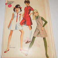 Simplicity 7424 Vintage 1960's Sewing Pattern Pantdress Young Junior Teen - VintageStitching - Vintage Sewing Patterns