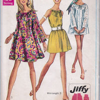 Simplicity 7689 Ladies Jiffy Mini Dress Vintage Sewing Pattern 1960's - VintageStitching - Vintage Sewing Patterns